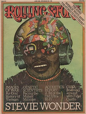ORIG VINTAGE MAGAZINE COVER/ ROLLING STONE - JUNE 19 1975illustrator- Milton  Glaser - Product Image