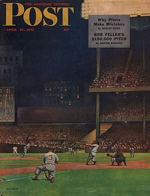 ORIG VINTAGE MAGAZINE COVER/ SATURDAY EVENING POST - APRIL 19 1947illustrator- John  Falter - Product Image