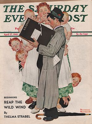 ORIG VINTAGE MAGAZINE COVER/ SATURDAY EVENING POST - APRIL 27 1940illustrator- Norman  Rockwell - Product Image