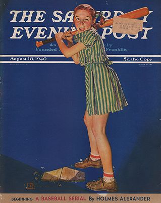 ORIG VINTAGE MAGAZINE COVER/ SATURDAY EVENING POST - AUGUST 10 1940illustrator- Douglas  Crockwell - Product Image