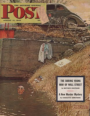 ORIG VINTAGE MAGAZINE COVER/ SATURDAY EVENING POST - AUGUST 11 1945illustrator- N/A - Product Image