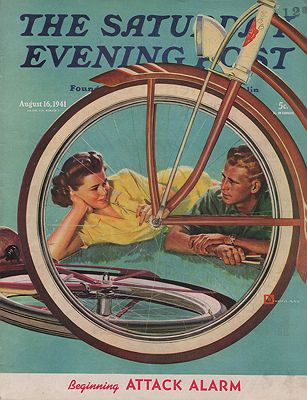 ORIG VINTAGE MAGAZINE COVER/ SATURDAY EVENING POST - AUGUST 16 1941illustrator- Douglas  Crockwell - Product Image