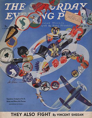 ORIG. VINTAGE MAGAZINE COVER/ SATURDAY EVENING POST - AUGUST 23 1941illustrator- Ski  Weld - Product Image