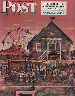 ORIG VINTAGE MAGAZINE COVER/ SATURDAY EVENING POST - AUGUST 28 1948illustrator- Stevan  Dohanos - Product Image