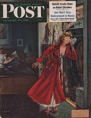 ORIG VINTAGE MAGAZINE COVER/ SATURDAY EVENING POST - DECEMBER 10 1949illustrator- Constantin  Alajalov - Product Image