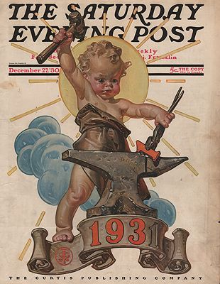 ORIG VINTAGE MAGAZINE COVER/ SATURDAY EVENING POST - DECEMBER 17 1930illustrator- N/A - Product Image