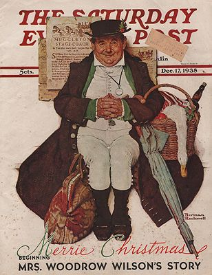 ORIG VINTAGE MAGAZINE COVER/ SATURDAY EVENING POST - DECEMBER 17 1938illustrator- Norman  Rockwell - Product Image
