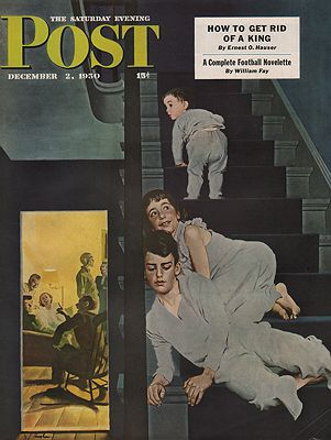 ORIG VINTAGE MAGAZINE COVER/ SATURDAY EVENING POST - DECEMBER 2 1950illustrator- George  Hughes - Product Image