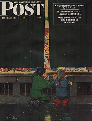 ORIG VINTAGE MAGAZINE COVER/ SATURDAY EVENING POST - DECEMBER 9 1950illustrator- Coby  Whitmore - Product Image