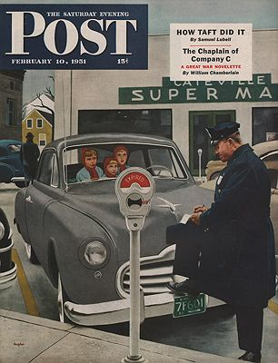 ORIG VINTAGE MAGAZINE COVER/ SATURDAY EVENING POST - FEBRUARY 10 1951illustrator- George  Hughes - Product Image