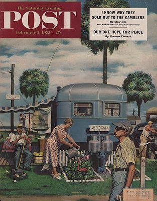ORIG VINTAGE MAGAZINE COVER/ SATURDAY EVENING POST - FEBRUARY 2 1952illustrator- Stevan  Dohanos - Product Image