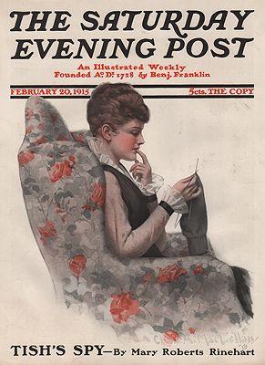 ORIG VINTAGE MAGAZINE COVER/ SATURDAY EVENING POST - FEBRUARY 20 1915illustrator- Chas.  McClellan - Product Image