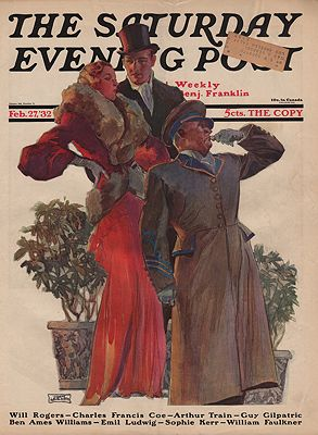ORIG VINTAGE MAGAZINE COVER/ SATURDAY EVENING POST - FEBRUARY 27 1932illustrator- John  Lagatta - Product Image