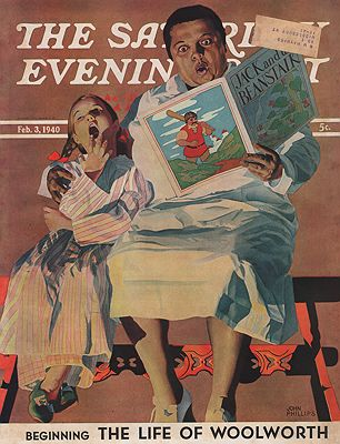 ORIG VINTAGE MAGAZINE COVER/ SATURDAY EVENING POST - FEBRUARY 3 1940illustrator- John  Philips - Product Image