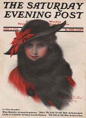 ORIG VINTAGE MAGAZINE COVER/ SATURDAY EVENING POST - FEBRUARY 5 1916illustrator- Haskell  Coffin - Product Image