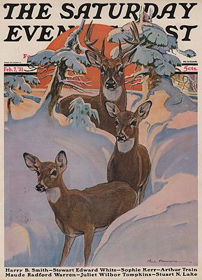 ORIG VINTAGE MAGAZINE COVER/ SATURDAY EVENING POST - FEBRUARY 7 1931illustrator- Paul  Bransom - Product Image
