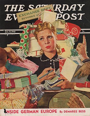 ORIG VINTAGE MAGAZINE COVER/ SATURDAY EVENING POST - JANUARY 11 1941illustrator- Douglas  Crockwell - Product Image