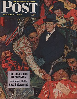 ORIG VINTAGE MAGAZINE COVER/ SATURDAY EVENING POST - JANUARY 24 1948illustrator- Norman  Rockwell - Product Image