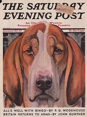 ORIG VINTAGE MAGAZINE COVER/ SATURDAY EVENING POST - JANUARY 30 1937illustrator- Paul  Bransom - Product Image