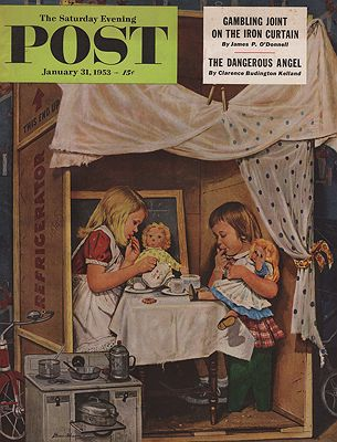 ORIG VINTAGE MAGAZINE COVER/ SATURDAY EVENING POST - JANUARY 31 1953illustrator- Stevan  Dohanos - Product Image