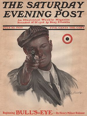 ORIG VINTAGE MAGAZINE COVER/ SATURDAY EVENING POST - JULY 10 1909illustrator- N/A - Product Image