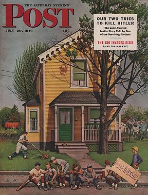 ORIG VINTAGE MAGAZINE COVER/ SATURDAY EVENING POST - JULY 20 1946illustrator- Stevan  Dohanos - Product Image