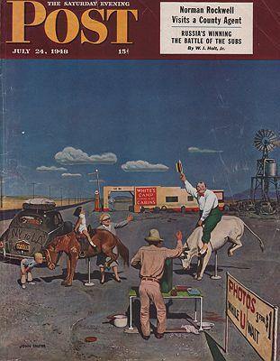 ORIG VINTAGE MAGAZINE COVER/ SATURDAY EVENING POST - JULY 24 1948illustrator- John  Falter - Product Image