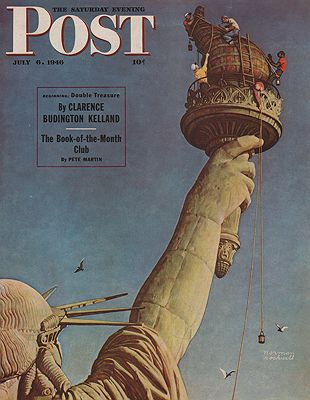 ORIG VINTAGE MAGAZINE COVER/ SATURDAY EVENING POST - JULY 6 1946illustrator- Norman  Rockwell - Product Image