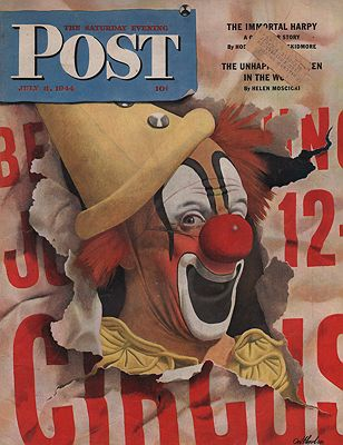 ORIG VINTAGE MAGAZINE COVER/ SATURDAY EVENING POST - JULY 8 1944illustrator- John  Atherton - Product Image
