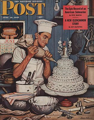 ORIG VINTAGE MAGAZINE COVER/ SATURDAY EVENING POST - JUNE 16 1945illustrator- Stevan  Dohanos - Product Image