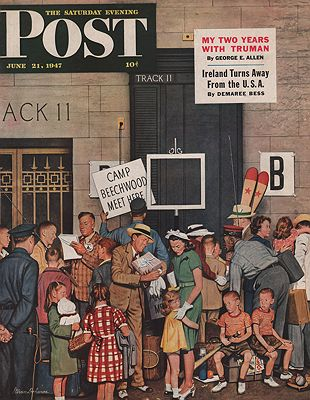 ORIG VINTAGE MAGAZINE COVER/ SATURDAY EVENING POST - JUNE 21 1947illustrator- Stevan  Dohanos - Product Image