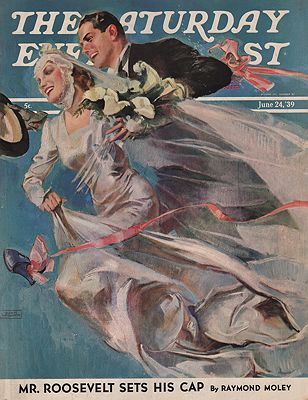 ORIG VINTAGE MAGAZINE COVER/ SATURDAY EVENING POST - JUNE 24 1939illustrator- John  LaGatta - Product Image