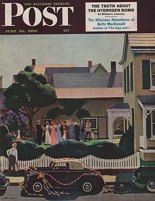 ORIG VINTAGE MAGAZINE COVER/ SATURDAY EVENING POST - JUNE 24 1950illustrator- John  Falter - Product Image