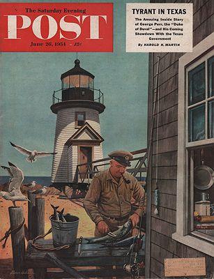 ORIG VINTAGE MAGAZINE COVER/ SATURDAY EVENING POST - JUNE 26 1954illustrator- Stevan  Dohanos - Product Image