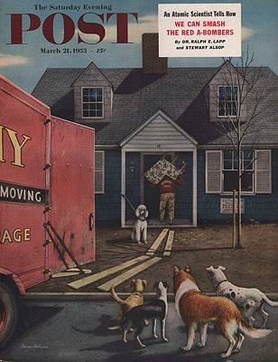 ORIG VINTAGE MAGAZINE COVER/ SATURDAY EVENING POST - MARCH 21 1953illustrator- Stevan  Dohanos - Product Image