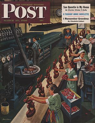 ORIG VINTAGE MAGAZINE COVER/ SATURDAY EVENING POST - MARCH 25 1950illustrator- Stevan  Dohanos - Product Image