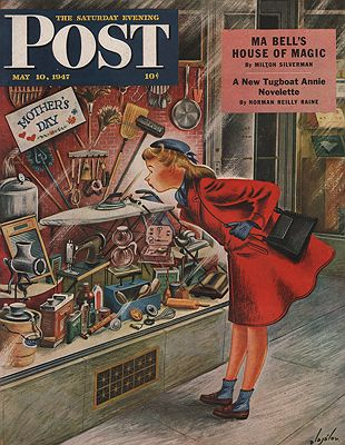 ORIG VINTAGE MAGAZINE COVER/ SATURDAY EVENING POST - MAY 10 1947illustrator- Constantin  Alajalov - Product Image