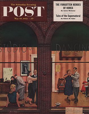 ORIG VINTAGE MAGAZINE COVER/ SATURDAY EVENING POST - MAY 10 1952illustrator- Stevan  Dohanos - Product Image
