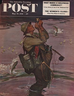 ORIG. VINTAGE MAGAZINE COVER/ SATURDAY EVENING POST - MAY 19 1951illustrator- Mead  Schaeffer - Product Image