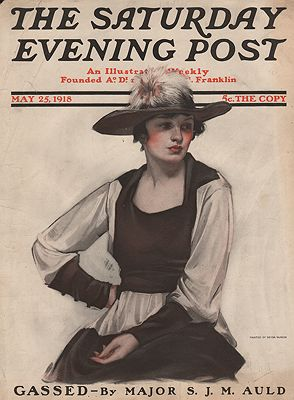 ORIG VINTAGE MAGAZINE COVER/ SATURDAY EVENING POST - MAY 25 1918illustrator- Neysa  McMein - Product Image