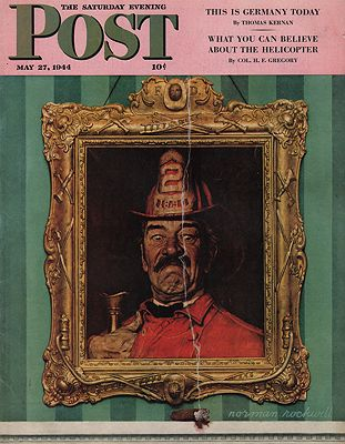 ORIG VINTAGE MAGAZINE COVER/ SATURDAY EVENING POST - MAY 27 1944illustrator- Norman  Rockwell - Product Image