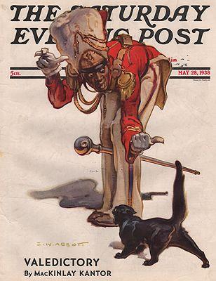 ORIG VINTAGE MAGAZINE COVER/ SATURDAY EVENING POST - MAY 28 1938illustrator- S.N.  Abbott - Product Image