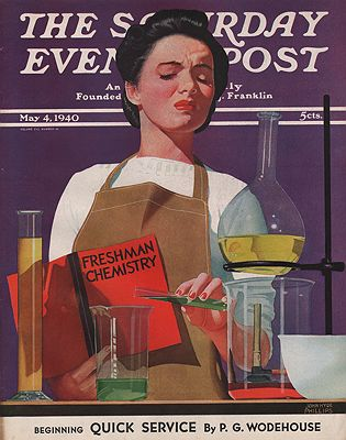 ORIG VINTAGE MAGAZINE COVER/ SATURDAY EVENING POST - MAY 4 1940illustrator- John Hyde  Phillips - Product Image