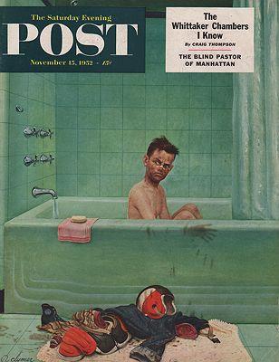 ORIG VINTAGE MAGAZINE COVER/ SATURDAY EVENING POST - NOVEMBER 15 1952illustrator- John  Clymer - Product Image