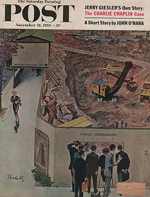 ORIG VINTAGE MAGAZINE COVER/ SATURDAY EVENING POST - NOVEMBER 21 1959illustrator- N/A - Product Image