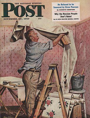 ORIG VINTAGE MAGAZINE COVER/ SATURDAY EVENING POST - NOVEMBER 26 1949illustrator- Stevan  Dohanos - Product Image