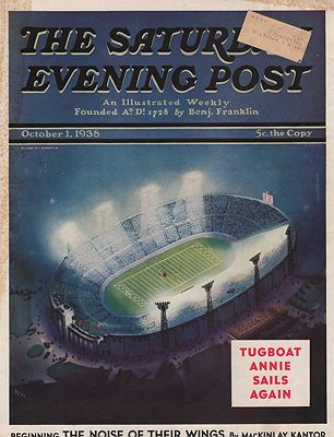 ORIG VINTAGE MAGAZINE COVER/ SATURDAY EVENING POST - OCTOBER 1 1938illustrator- Wesley  Neff - Product Image