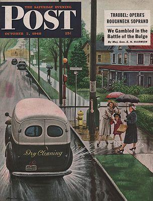 ORIG VINTAGE MAGAZINE COVER/ SATURDAY EVENING POST - OCTOBER 2 1948illustrator- Stevan  Dohanos - Product Image