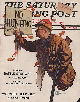 ORIG VINTAGE MAGAZINE COVER/ SATURDAY EVENING POST - OCTOBER 28 1939illustrator- Douglass  Crockwell - Product Image
