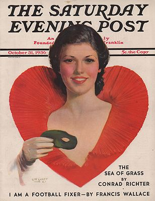 ORIG VINTAGE MAGAZINE COVER/ SATURDAY EVENING POST - OCTOBER 31 1936illustrator- George W.  Gage - Product Image